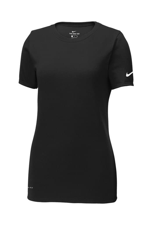 Nike Ladies Dri Fit Cotton Poly Scoop Neck Tee Nkbq5234