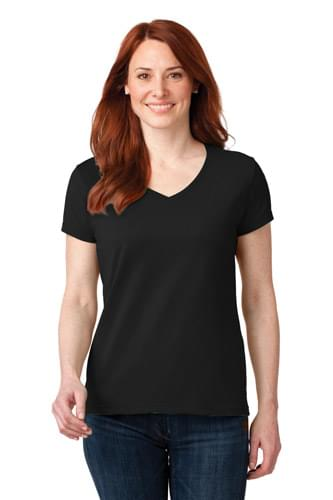 Anvil ®  Ladies 100% Combed Ring Spun Cotton V-Neck T-Shirt. 88VL